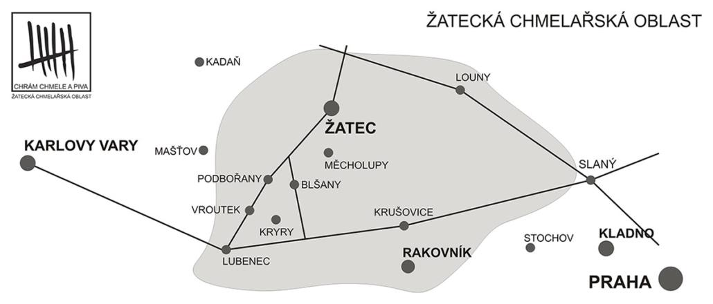 obce Žatecké chmelařské oblasti