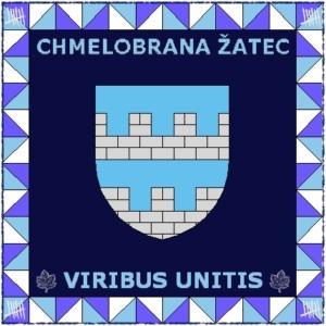 Zástava Chmelobrany modrá II